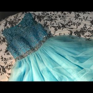 Light Blue Diamond Dress